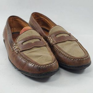Martin Dingman   Brown Leather Penny Loafers 9